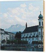 Church In Lucerne Wood Print