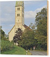 Church In Meersburg Germany Wood Print