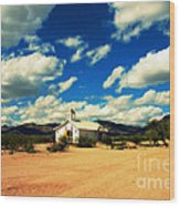 Church In Old Tuscon Arizona Wood Print