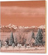 Church In The Mountains Wood Print