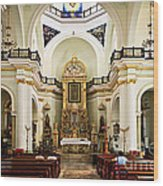 Church Interior In Puerto Vallarta Wood Print
