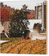 Church Is Over Heading Home Wood Print