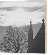 Church Light Wood Print