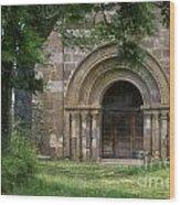 Church Of Bredons.cantal. France Wood Print