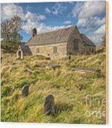 Church Of Celynnin Wood Print by Adrian Evans