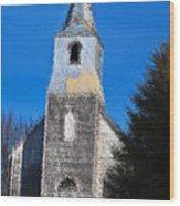 Church Of Days Gone By Wood Print