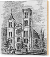 Church Of The Puritans Wood Print
