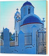 Church Oia Santorini Greece Wood Print