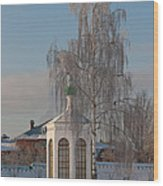 Church On A Frosty Day Wood Print