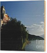Church On The Lake Front Wood Print