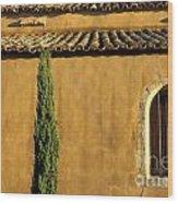 Church. Provence Wood Print by Bernard Jaubert