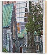 Church Reflections Wood Print