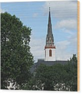 Church Steeple Wood Print by Arlene Carmel
