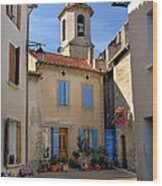 Church Steeple In Provence Wood Print