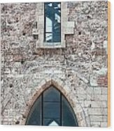 Church Windows Wood Print by Shirley Mitchell