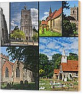 Churches Of Hillingdon Wood Print