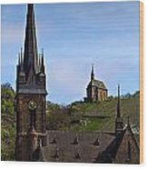 Churches Of Lorchhausen - Color Wood Print