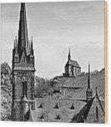 Churches Of Lorchhausen Bw Wood Print