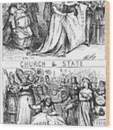 Church/state Cartoon, 1870 Wood Print