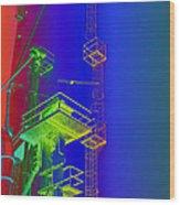 Chutes And Ladders Wood Print
