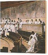 Cicero In Senate Wood Print