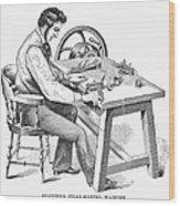 Cigar-making Machine, 1859 Wood Print