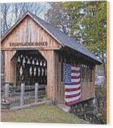 Cilleyville Covered Bridge Wood Print