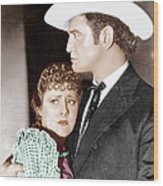 Cimarron, From Left Irene Dunne Wood Print