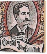 Cincinnati Baseball Wood Print