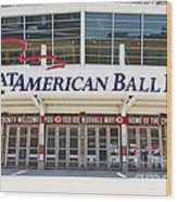 Cincinnati Great American Ball Park Entrance Sign Wood Print
