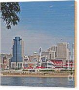 Cincinnati Panorama Wood Print