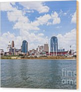 Cincinnati Skyline And Downtown City Buildings Wood Print