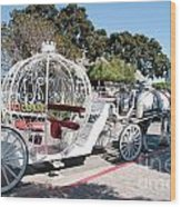 Cinderella Carriage Wood Print
