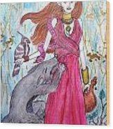 Circe The Sorceress Wood Print