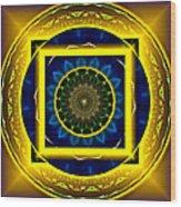Circle Of Power Wood Print by Rotaunja