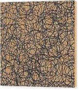 Circles Wood Print by Katina Cote