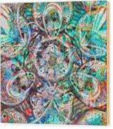 Circles Of Life Wood Print by Mo T