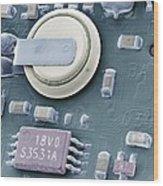 Circuit Board Battery, Sem Wood Print