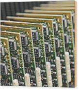 Circuit Board Production Wood Print