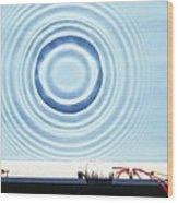 Circular Waves Wood Print