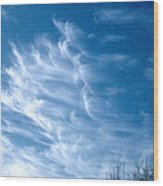 Cirrus Cloud Wood Print