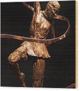 Citius Altius Fortius Olympic Art Gymnast Over Black Wood Print