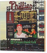 Citizens Bank Park 2 Wood Print by See Me Beautiful Photography