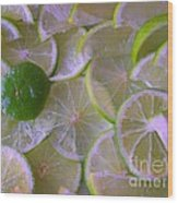 Citrons Verts - Green Lemon - Ile De La Reunion Wood Print