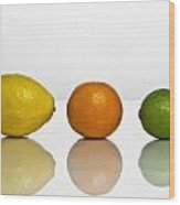 Citrus Fruits Wood Print
