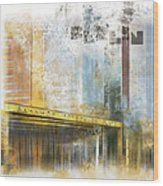 City-art Berlin Potsdamer Platz Wood Print