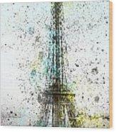 City-art Paris Eiffel Tower II Wood Print