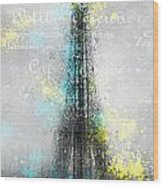 City-art Paris Eiffel Tower Letters Wood Print