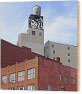 City Buildings On Bowery Wood Print