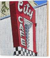 City Cafe Wood Print